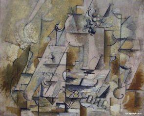 Braque, compotier et verre, 1912