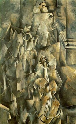 Braque, Violin and pitcher, 1910