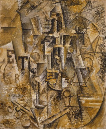 Picasso, Still life with a bottle of rum, 1911