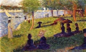 Seurat Woman-Fishing-And-Seated-Figures